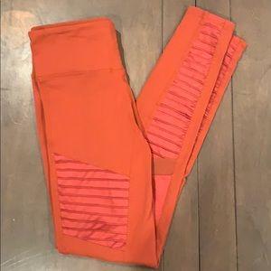 Alo yoga Moto pant legging burnt orange